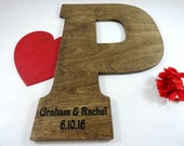 Engraved Guest Book Unique Guest Book Stained Wood Letters Big Letters Decorative Wood Letters Large Wood Letters Photo Props Letters Gifts