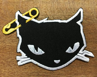 New Cute Cat Sew Iron On Patch Embroidered Motorcycles Chopper Biker patch