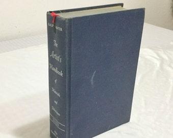 The Artist's Handbook of Materials & Techniques by Ralph Mayer 1966 Hardcover Art Book