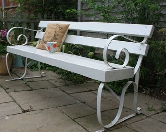 Garden Bench/Bench/Garden/Vintage/Garden Decor/Outdoor Bench/Cottage Garden