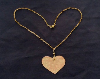 Heart Brushed Copper Necklace ***FREE SHIPPING