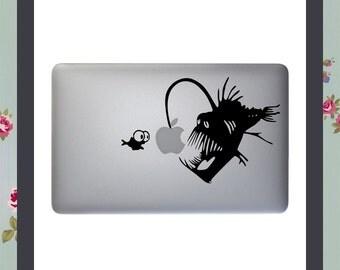 Mac Decal - Anglerfish - Angler fish - Apple Macbook and other laptop