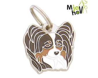 Pet tags MjavHov engraved PAPILLON
