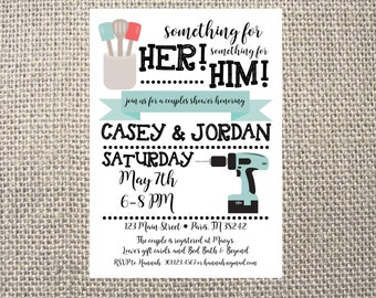 Printed or DIGITAL Tools Home Improvement Wedding Couples Kitchen Shower Invitations 5x7 Customized Tools Handy Man Invites Design 0.82 each