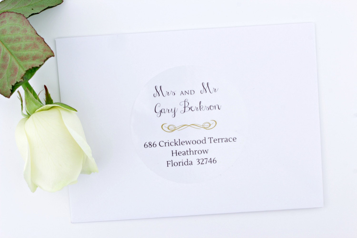 Wedding Invitation Stickers: Wedding Envelope Address Labels Return And Guest Addressing