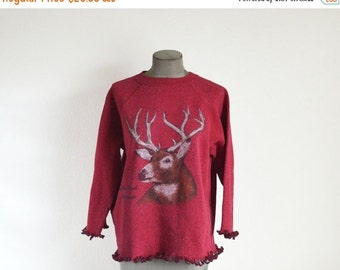 SALE 90's Vintage Estes Colorado Deer Sweatshirt