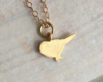 Gold Bird Necklace, Gold Bird Pendant, Small Bird Necklace, Tiny Gold Bird Pendant, Gold Necklace, Small Gold Bird Necklace, Gold Minimalist