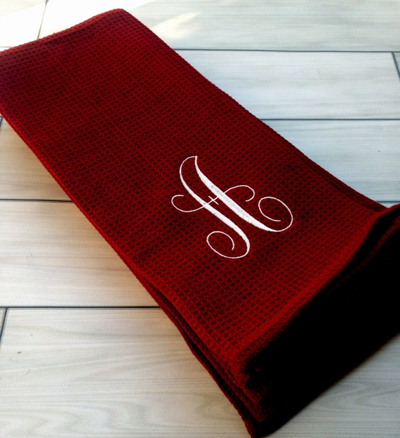 Set Of 2 Personalized Kitchen Towel Set 100% By AnnieMaeandWes