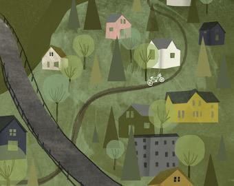 Goat Hill Print, 11x17