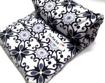"""FLAX HEATING PAD,  Microwavable""""The Flax SaK"""" Choice of  brushed Flannel or cotton washable covers, Flax seed Bag, Perfect gifts for her"""