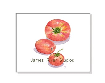 Tomato Painting Tomato Art Tomato Print Red Tomatoes Watercolor Tomatoes Vegetable Painting Vegetable Art Kitchen Wall Decor Kitchen Tomato.
