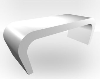White Gloss Coffee Table - Wedge