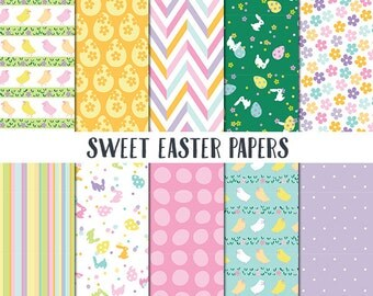 Easter Digital Paper, Digital Paper, Sweet Easter Papers