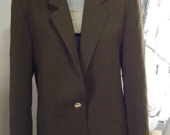 Vintage oversized olive green blazer