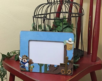 Disney Fontierland inspired, Big Thunder Mountain Railroad, Disney Memories, room decor, picture frames
