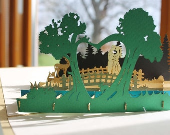 Forest Wedding pop-up card