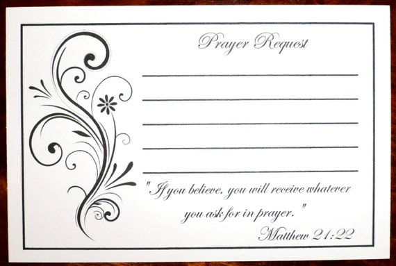 pack of 100 prayer request cards. Black Bedroom Furniture Sets. Home Design Ideas