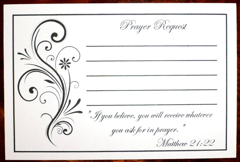 pack of 100 prayer request cards. Black Bedroom Furniture Sets. Home Design Ideas