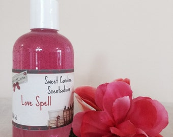 Love Spell Scented Body Wash / Scented Bath Gel / Bubble Bath / Shower Gel / Liquid Soap