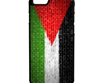 Palastine Flag On Brick Wall iPhone Galaxy Note LG HTC Hybrid Rubber Protective Case
