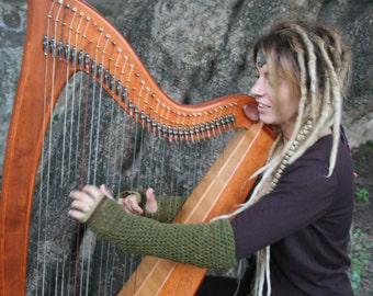 NEW Green Fairy Gloves in shepard wool