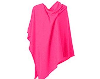 ANNA KRISTINE CASHMERE - Luxurious Deep Pink Cerise Cashmere Poncho