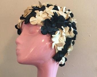 Vintage 1960's Swim Cap 3D Floral