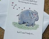 Valentine card / Elephant
