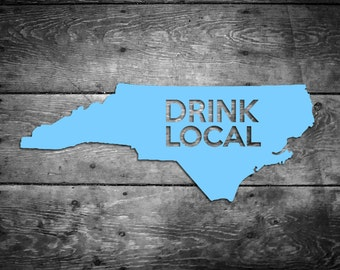 North Carolina Drink Local Sticker NC