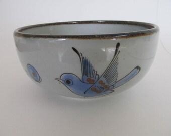 Vintage Tonala Mexico Handpainted Pottery Bowl by Ken Edwards