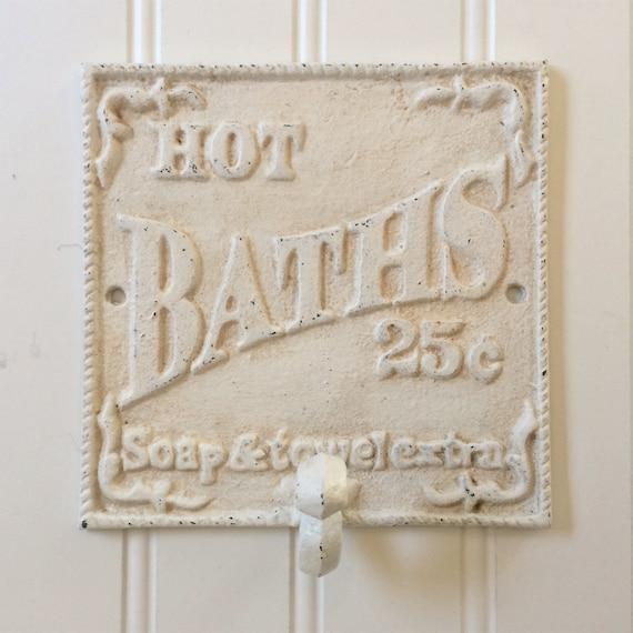 Cottage Bathroom Wall Decor : Hot baths bathroom wall hook robe towel beach
