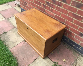 Small antique pine chest
