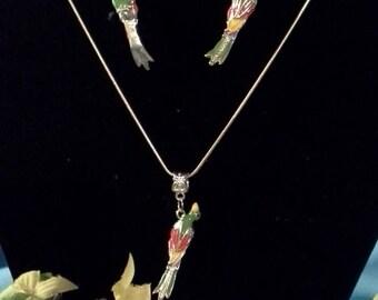 Designer Colored Parrot Jewelry Set