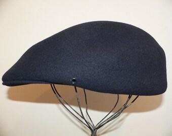 Pendleton Navy Wool Scally Cap / Flatcap/ Newsboy Hat Size XL
