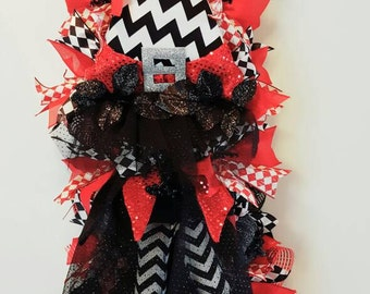 Halloween Wreath, Witch Wreath, Whimsical Wreath, Witch Swag, Decomesh Wreath, Halloween Decor, Wicked Witch Swag, Door Decor