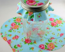 """Cotton Circles Set of 12, Craft Circles  Handmade Gift Jar Covers  Choose Your Size:  5.5"""" or 6.5"""""""