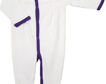 LSU Tigers Baby Pleated Playsuit