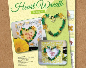 Heart Wreath - Quilling Kit