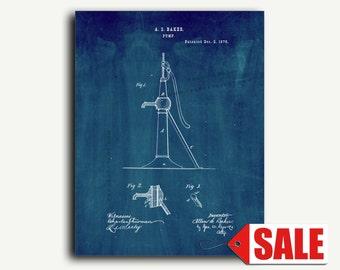 Patent Art - Improvement In Pumps Patent Wall Art Print