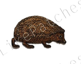 Brown Hedgehog Baby - Hedgehog Pet - Animal Print - Cute Animal New Sew / Iron on Patch Embroidered Applique Size 8.5cm.x5.1cm.