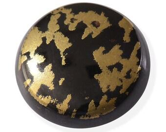 Black Goldenite Quartz Round Cabochon Loose Gemstone 1A Quality 11mm TGW 3.50 cts.