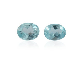 Green Apatite Oval Cut Set of 2 Loose Gemstones 1A Quality 4x3mm TGW 0.30 cts.