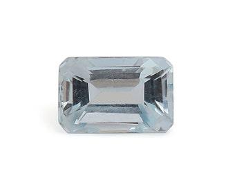 Santa Maria Aquamarine Loose Gemstone Octagon Cut 1A Quality 6x4mm TGW 0.45 cts.