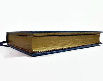 Hollow book, book safe, book hiding place, blue book, Australian, unusual gifts, secret book, blue and gold, handmade book, jewelry box