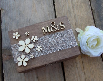 Ring bearer box 'initials' - ring box, wedding decoration, wedding accessoires, marriage, rings