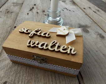 "Ring Bearer Box ""Bow"" / Wedding / Ring Box / Wedding Box / Vintage / Ring Holder / Rustic / Wood"
