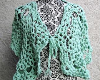 Crochet Mint Spring Shawl