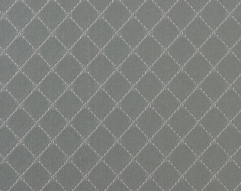 Ease Geometric Stitched Wallpaper Grey R1817