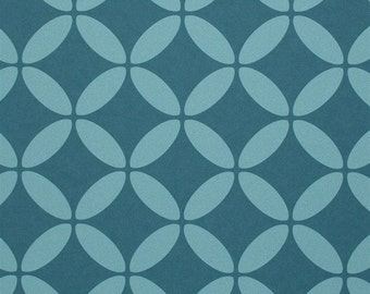 Geometric Evolve Turquoise Wallpaper R2537