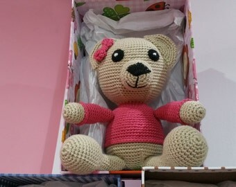 Teddy bear amigurumi crochet